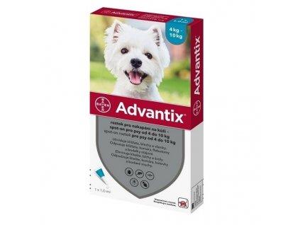 Advantix Spot On 1x1 ml pro psy 4 – 10 kg (1 pipeta)