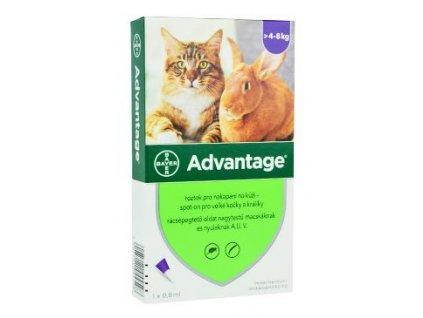 Advantage pro velké kočky a králíky 80 mg 1x0,8 ml