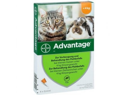 Advantage pro malé kočky a králíky 40 mg 1x0,4 ml