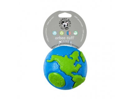 Orbee-Tuff® Ball Zeměkoule modro/zelená L – 11 cm
