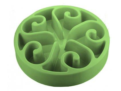 Zpomalovací miska Eat Slow Original zelená 20 cm