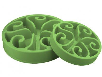 Zpomalovací miska Eat Slow Original zelená 30 cm