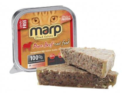 Marp Beef vanička pro kočky s hovězím 100 g   Krmiva u Toma