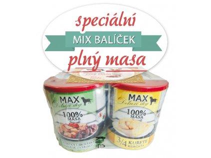 Max Deluxe balení konzerv pro psy 4 x 800 g | Balíček plný masa pro psy | Krmiva u Toma