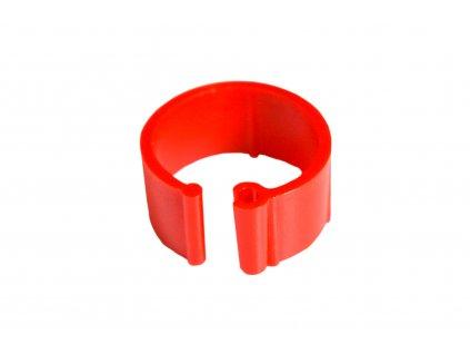 Zasouvací kroužek pro slepice 16 mm, červený | Krmiva u Toma