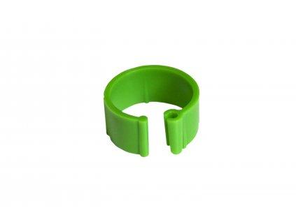 Zasouvací kroužek pro slepice 16 mm, zelený | Krmiva u Toma