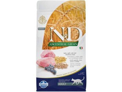 N&D LG Cat Adult Lamb & Blueberry 1,5 kg | Granule pro dospělé kočky s nízkým obsahem obilovin | Krmiva u Toma