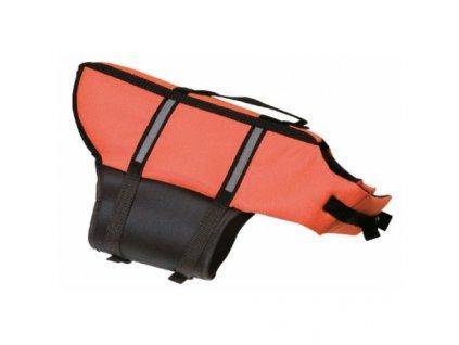 Vesta plovací Dog S 30 cm, oranžová | Plovací vesta pro malé psy | Krmiva u Toma
