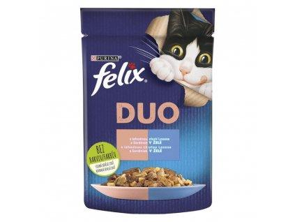 Felix Fantastic Duo kapsička se sardinkami a lososem v želé 85 g