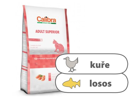 Calibra Cat GF Adult Superior Chicken & Salmon 2 kg