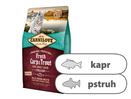 Carnilove Cat Fresh Carp & Trout Sterilized 2 kg