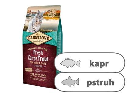 Carnilove Cat Fresh Carp & Trout Sterilized 6 kg