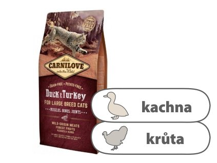 Carnilove CAT Duck & Turkey for Adult Large Cats 6 kg