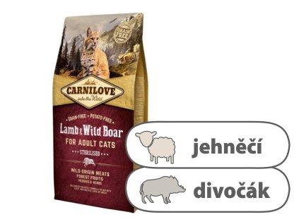Carnilove CAT Lamb & Wild Boar for Adult Cats Sterilised 6 kg