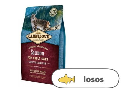 Carnilove CAT Salmon for Adult Cats Sensitive & Long Hair 2 kg