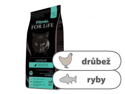 Fitmin For Life Castrate kompletní krmivo pro kočky 1,8 kg