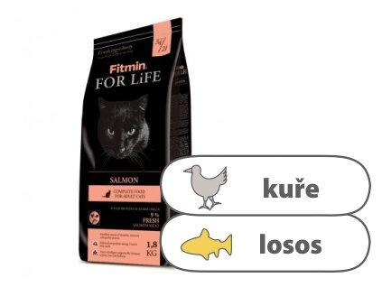 Fitmin For Life Salmon kompletní krmivo pro kočky 1,8 kg