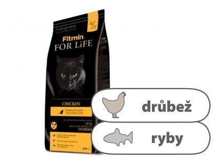 Fitmin For Life Chicken kompletní krmivo pro kočky 400 g