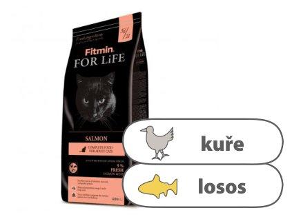 Fitmin For Life Salmon kompletní krmivo pro kočky 400 g