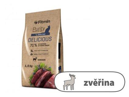 Fitmin Purity Delicious kompletní krmivo pro kočky 1,5 kg