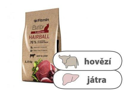 Fitmin Purity Hairball kompletní krmivo pro kočky 1,5 kg