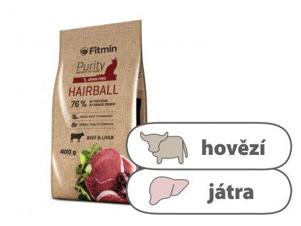 Fitmin Purity Hairball kompletní krmivo pro kočky 400 g