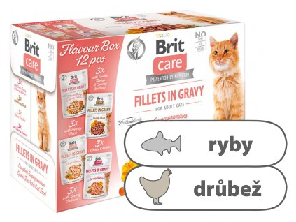 Brit Care Cat Flavour box Fillet in Gravy 12 x 85 g
