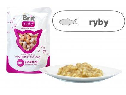 Brit Care Cat Seabream Pouch 80 g