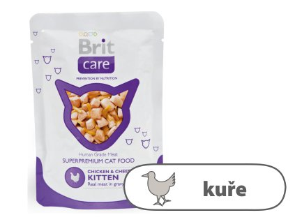 Brit Care Kitten Chicken & Cheese Pouch 80 g