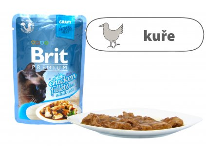 Brit Premium Cat Delicate Fillets in Gravy with Chicken 85 g