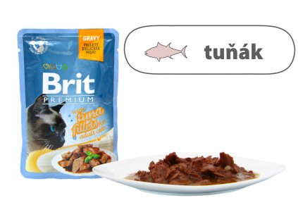 Brit Premium Cat Delicate Fillets in Gravy with Tuna 85 g