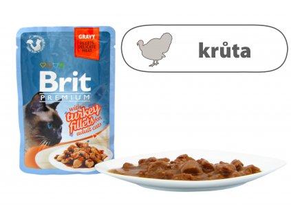 Brit Premium Cat Delicate Fillets in Gravy with Turkey 85 g