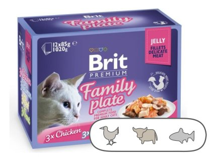 Brit Premium Cat Delicate Fillets in Jelly Family Plate 1020 g