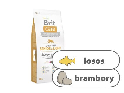 Brit Care Grain-free Senior & Light Salmon & Potato 12 kg