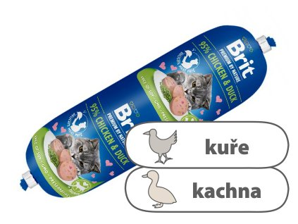 Brit Premium Sausage CAT Chicken & Duck 180 g