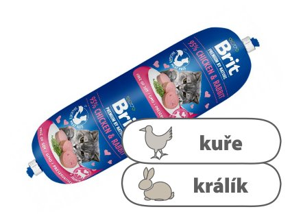 Brit Premium Sausage CAT Chicken & Rabbit 180 g
