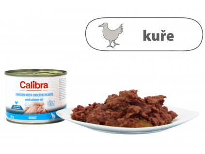 Calibra Cat konz. Adult kuře a kuřecí srdíčka 200 g