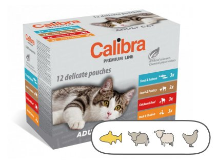 Calibra Cat kapsa Premium Adult multipack 12 x 100 g