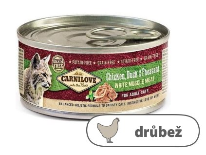 Carnilove WMM Chicken, Duck & Pheasant for Adult Cats 100 g
