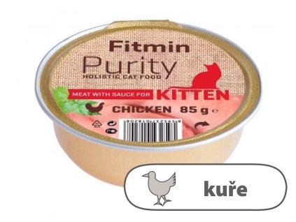 Fitmin Purity Kuřecí maso ve vývaru pro koťata 85 g