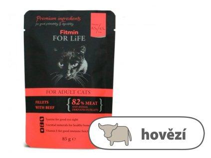Fitmin For Life Hovězí kapsička pro kočky 85 g
