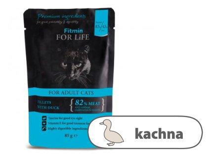 Fitmin For Life Kachní kapsička pro kočky 85 g