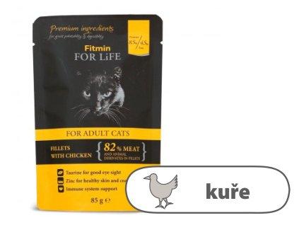 Fitmin For Life Kuřecí kapsička pro kočky 85 g