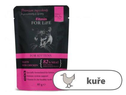 Fitmin For Life Kuřecí kapsička pro koťata 85 g