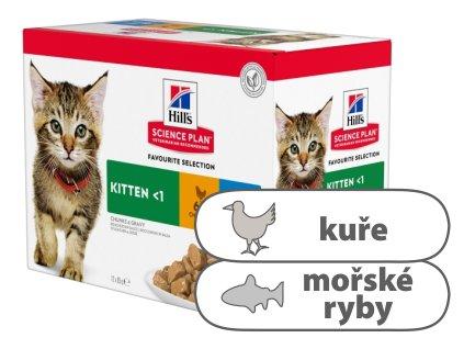 Hill's Fel. kapsa Kitten Chicken & Ocean fish 12 x 85 g