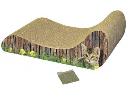Nobby hračka pro kočky kartonové škrabadlo lenoška 48x21x16cm