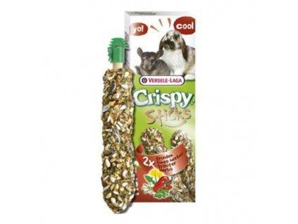 VL Crispy Sticks pro králíky činčily Bylinky 110g