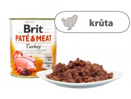 Brit Pate and Meat Turkey větší konzerva štítek