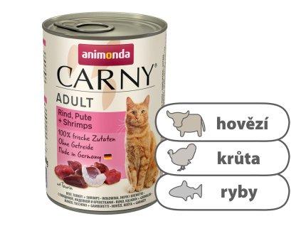 Animonda CARNY Adult – hovězí, krůta, ráčci 400 g
