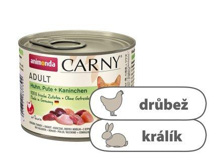 Animonda CARNY Adult – kuře, krůta, králík 200 g